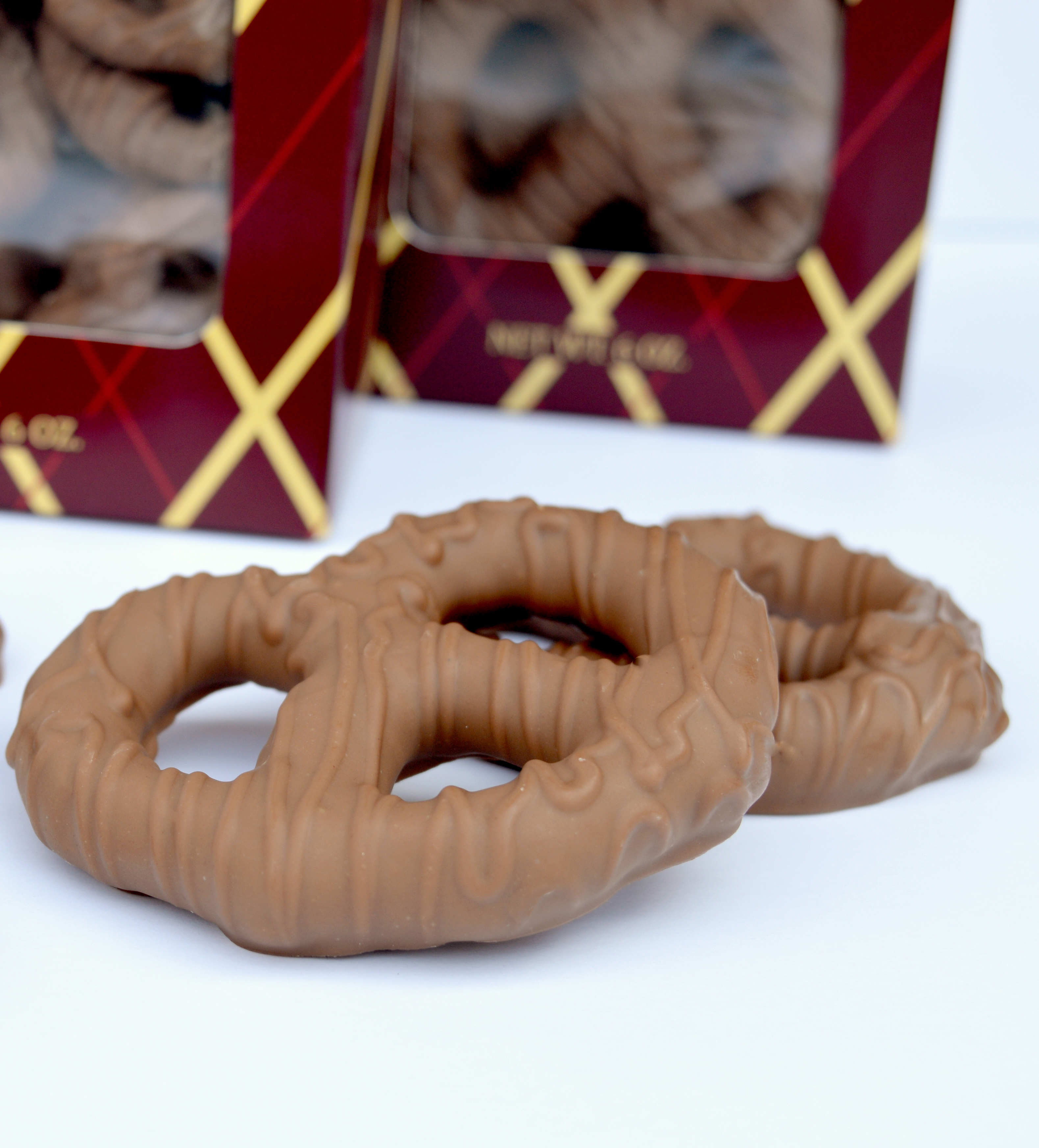 6 oz. Box of Milk Chocolate Covered Large Pretzels