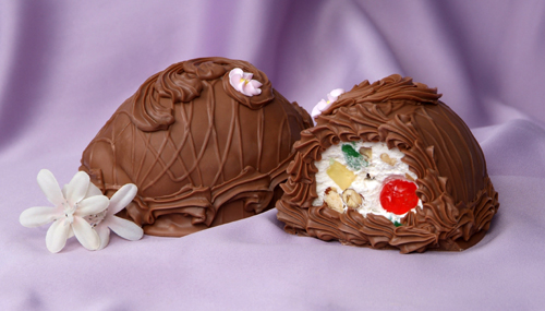 8 oz. Milk Chocolate Fruit and Nut Filled Egg
