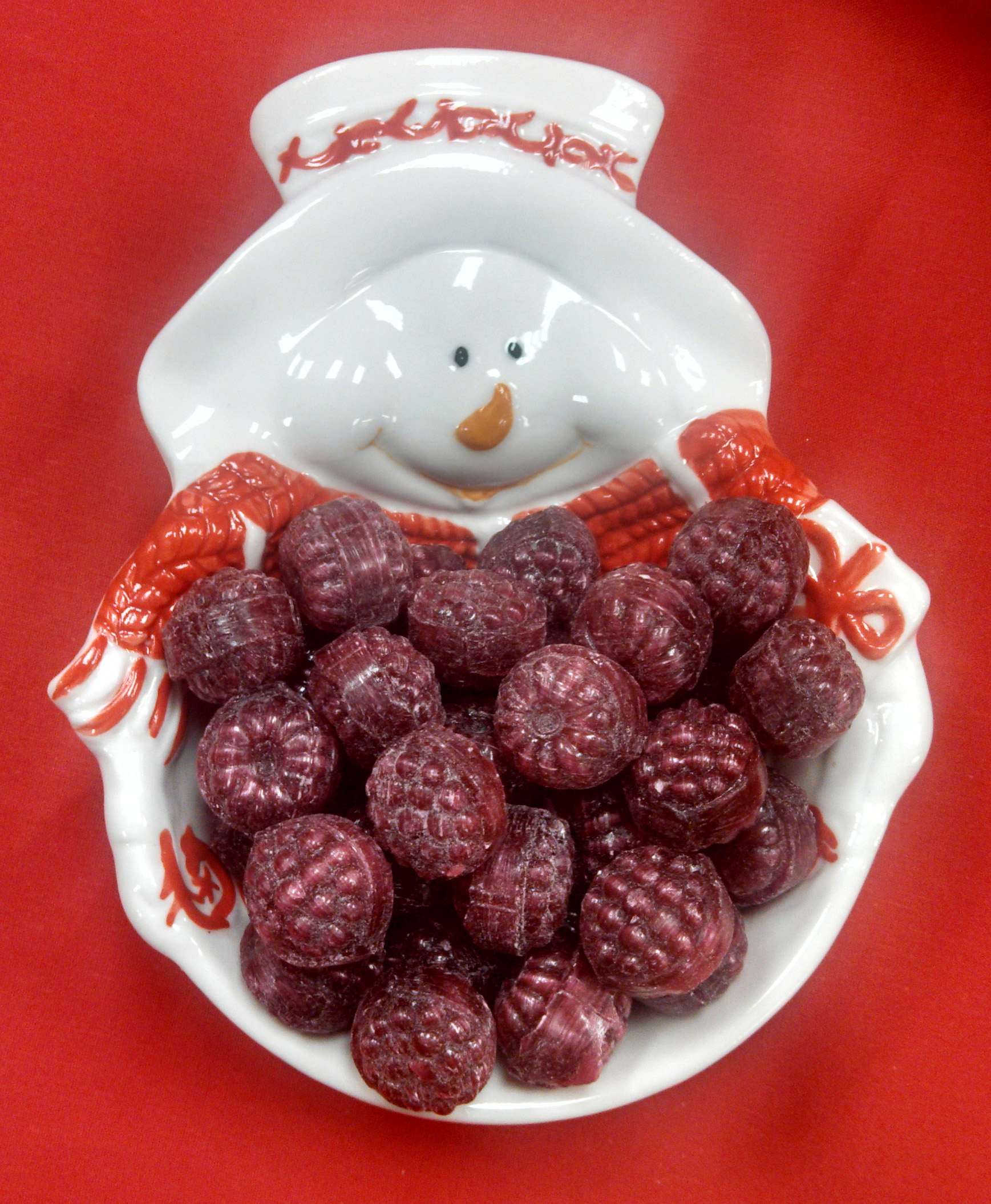 16 oz. Red Filled Raspberries Hard Candy