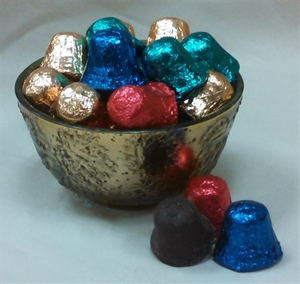 8 oz. Semi-Sweet Chocolate Foil Wrapped Bells