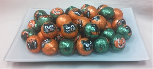 Fall and Halloween Milk Chocolate Foil Wrapped Candy