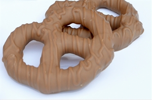 Single 1 oz. Milk Chocolate Covered Large Pretzel