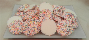 8 oz. Vanilla Wafers with Colored  Nonpareils