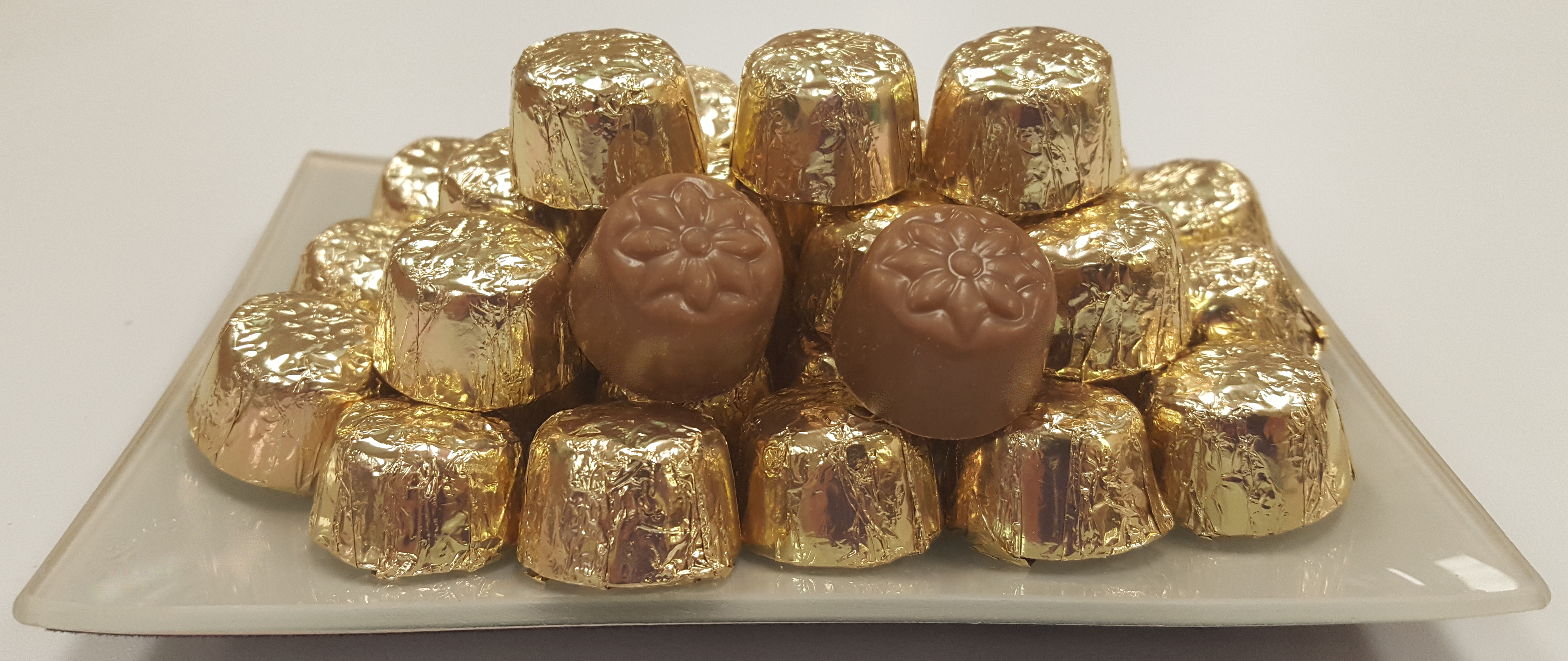 16 oz. Gold Foil Wrapped Milk Chocolate Domes