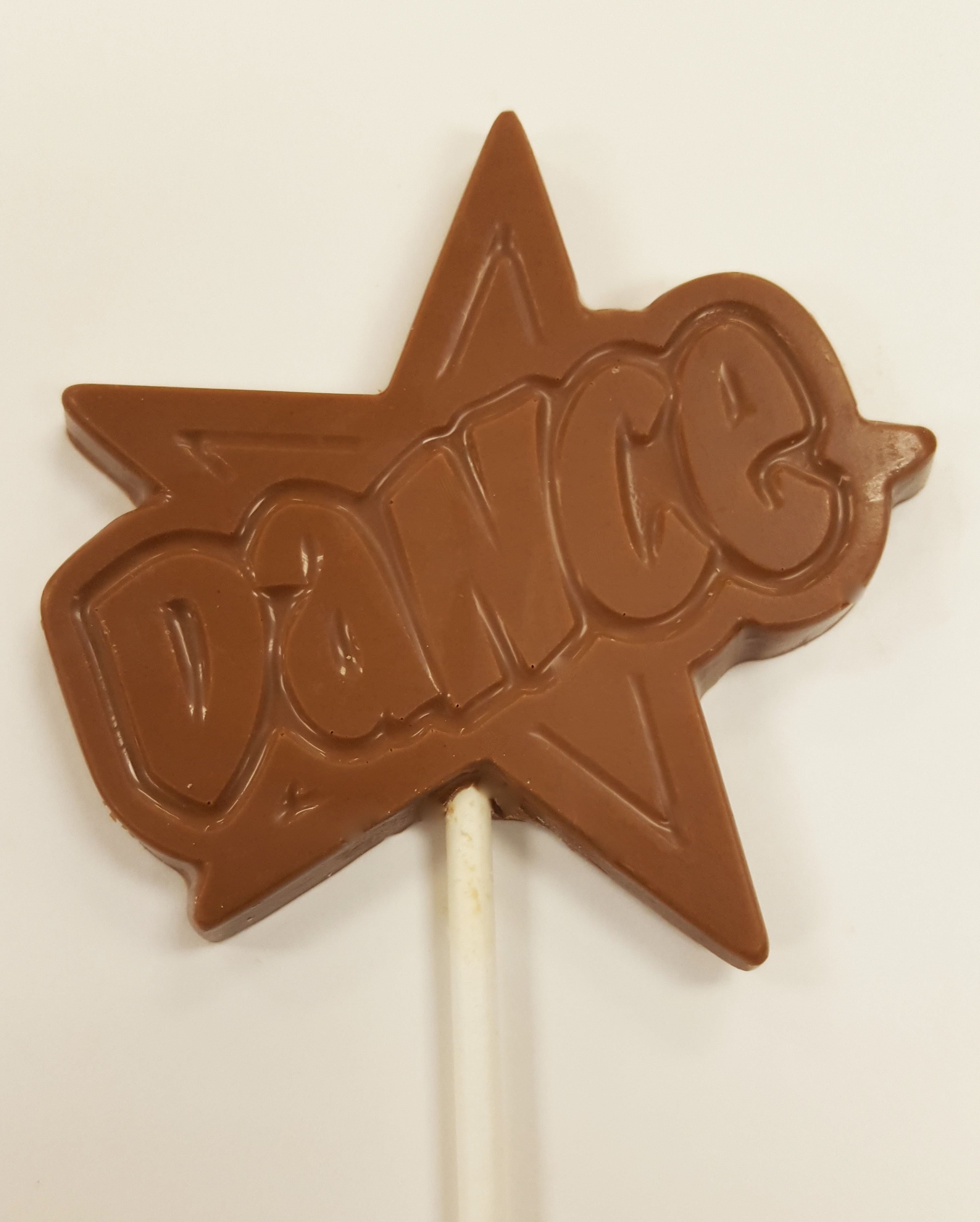 1 oz. Milk Chocolate Dance Star Sucker
