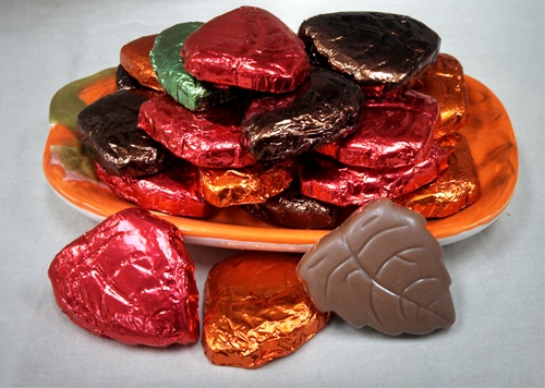 Thanksgiving Milk Chocolate or Semi-Sweet (Dark)  Foil Wrapped Candy