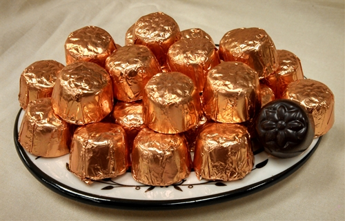 8 oz. Bronze Foil Wrapped Semi-Sweet Chocolate Domes